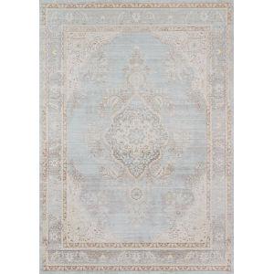 Isabella Medallion Blue Runner: 2 Ft. 7 In. x 8 Ft.