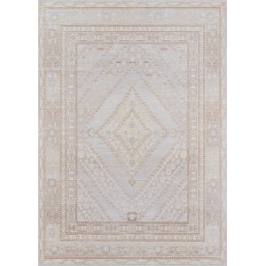 Isabella Geometric Gray Rectangular: 9 Ft. 3 In. x 11 Ft. 10 In. Rug