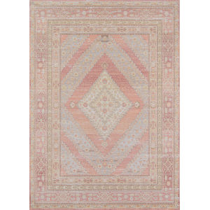Isabella Geometric Pink Rectangular: 9 Ft. 3 In. x 11 Ft. 10 In. Rug