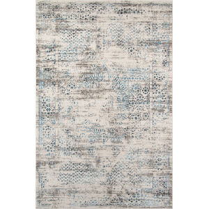 Juliet Blue Distressed Rectangular: 7 Ft. 6 In. x 9 Ft. 6 In. Rug