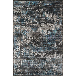 Juliet Distressed Charcoal Rectangular: 7 Ft. 6 In. x 9 Ft. 6 In. Rug