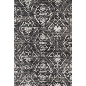 Juliet Damask Charcoal Runner: 2 Ft. 3 In. x 7 Ft. 6 In.