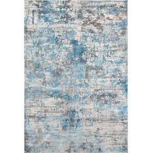 Juliet Abstract Blue Rectangular: 7 Ft. 6 In. x 9 Ft. 6 In. Rug