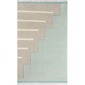 Karl Blue Rectangular: 7 Ft. 9 In. x 9 Ft. 9 In. Rug