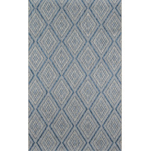 Lake Palace Blue Rectangular: 6 Ft. 7 In. x 9 Ft. 6 In. Rug