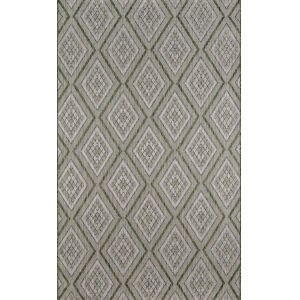 Lake Palace Green Rectangular: 6 Ft. 7 In. x 9 Ft. 6 In. Rug