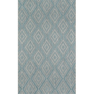 Lake Palace Light Blue Rectangular: 6 Ft. 7 In. x 9 Ft. 6 In. Rug