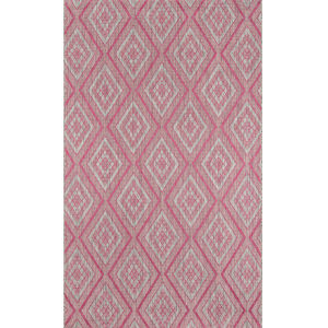 Lake Palace Pink Rectangular: 6 Ft. 7 In. x 9 Ft. 6 In. Rug