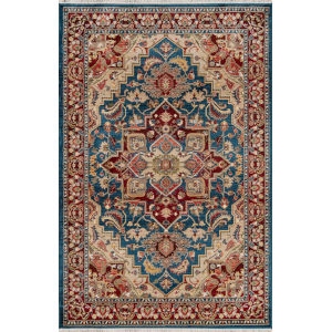 Lenox Medallion Blue Rectangular: 7 Ft. 6 In. x 9 Ft. 6 In. Rug