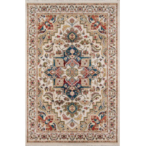 Lenox Medallion Ivory Rectangular: 9 Ft. 6 In. x 12 Ft. 6 In. Rug