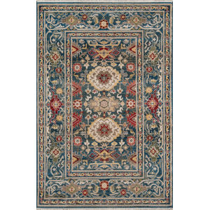 Lenox Oriental Blue Rectangular: 7 Ft. 6 In. x 9 Ft. 6 In. Rug