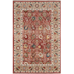 Lenox Oriental Red Rectangular: 9 Ft. 6 In. x 12 Ft. 6 In. Rug