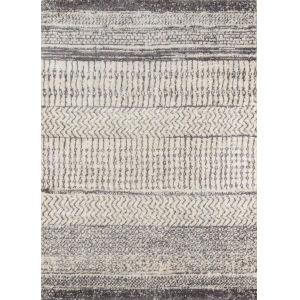 Lima Abstract Shag Ivory Rectangular: 7 Ft. 10 In. x 9 Ft. 10 In. Rug
