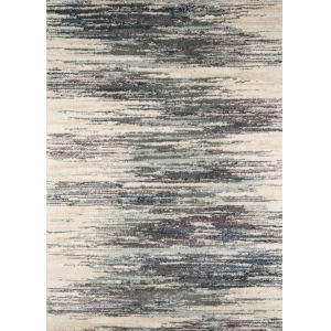 Lima Abstract Shag Gray Rectangular: 7 Ft. 10 In. x 9 Ft. 10 In. Rug
