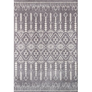 Lima Moroccan Shag Gray Rectangular: 9 Ft. 3 In. x 12 Ft. 6 In. Rug