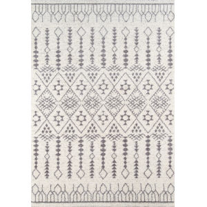 Lima Moroccan Shag Ivory Rectangular: 5 Ft. 3 In. x 7 Ft. 6 In. Rug