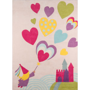 Lil Mo Whimsy Fairy Princess Pink Rectangular: 8 Ft. x 10 Ft. Rug