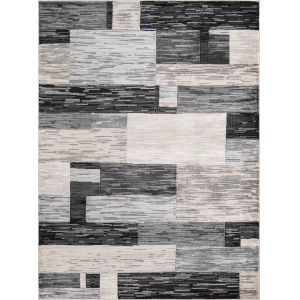 Logan Charcoal Rectangular: 3 Ft. 11 In. x 5 Ft. 7 In. Rug