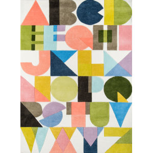 Lulu ABC Shapes Multicolor Rectangular: 7 Ft. 6 In. x 9 Ft. 6 In. Rug
