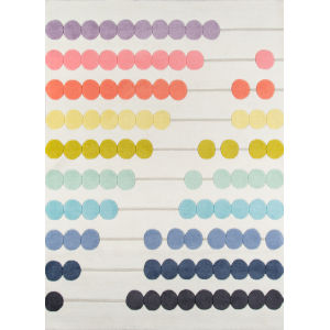 Lulu Abacus Multicolor Rectangular: 3 Ft. 6 In. x 5 Ft. 6 In. Rug