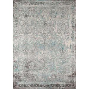 Luxe Turquoise Rectangular: 5 Ft. 3 In. x 7 Ft. 6 In. Rug