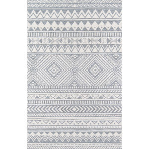 Mallorca Geometric Gray Rectangular: 5 Ft. x 8 Ft. Rug