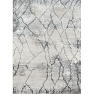 Matrix Gray Abstract Rectangular: 5 Ft. 3 In. x 7 Ft. 2 In. Rug