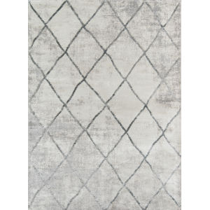 Matrix Geometric Gray Rectangular: 9 Ft. 10 In. x 12 Ft. 10 In. Rug