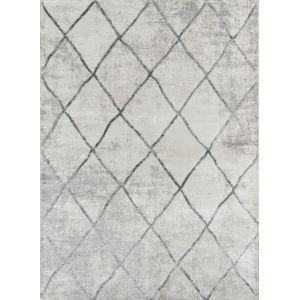 Matrix Geometric Gray Rectangular: 9 Ft. 10 In. x 12 Ft. 10 In. Rug