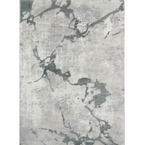 Matrix Abstract Charcoal Rectangular: 5 Ft. 3 In. x 7 Ft. 2 In. Rug