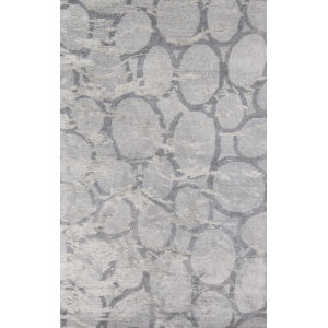 Millennia Abstract Silver Rectangular: 3 Ft. 6 In. x 5 Ft. 6 In. Rug