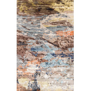 Millennia Abstract Multicolor Rectangular: 3 Ft. 6 In. x 5 Ft. 6 In. Rug
