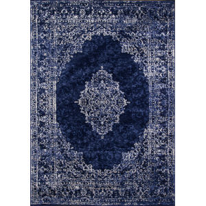Monterey Medallion Blue Rectangular: 2 Ft. x 3 Ft. Rug