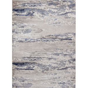 Monterey Abstract Blue Runner: 2 Ft. 3 In. x 7 Ft. 6 In.