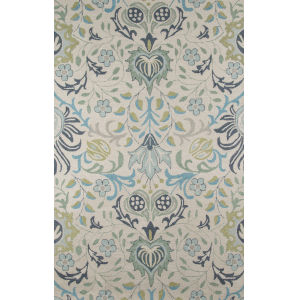 Newport Floral Blue Rectangular: 9 Ft. x 12 Ft. Rug