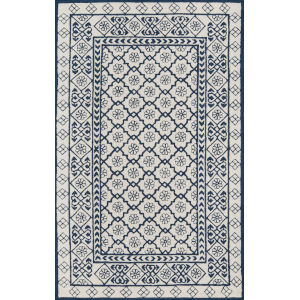 Newport Geometric Blue Rectangular: 9 Ft. x 12 Ft. Rug