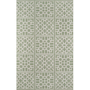 Palm Beach Lake Trail Green Rectangular: 7 Ft. 6 In. x 9 Ft. 6 In. Rug