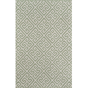 Palm Beach Brazilian Avenue Green Rectangular: 9 Ft. 6 In. x 13 Ft. 6 In. Rug