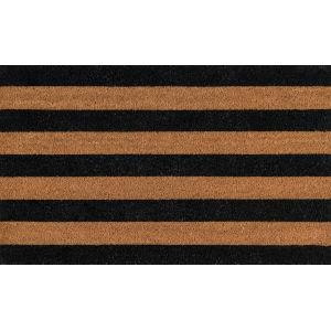 Park Stripe Black Rectangular: 1 Ft. 6 In. x 2 Ft. 6 In. Rug
