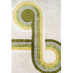 Retro Green Rectangular: 5 Ft. x 7 Ft. 6 In. Rug