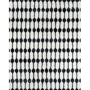 Retro Black Rectangular: 5 Ft. x 7 Ft. 6 In. Rug