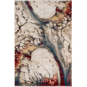 Studio Abstract Multicolor Rectangular: 3 Ft. 3 In. x 5 Ft. 3 In. Rug