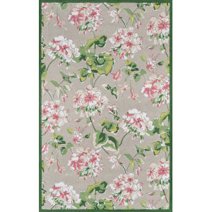 Summer Garden Gray Rectangular: 3 Ft. 6 In. x 5 Ft. 6 In. Rug