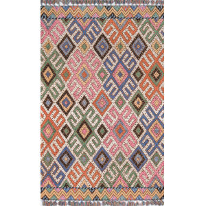 Tahoe Geometric Multicolor Rectangular: 5 Ft. x 8 Ft. Rug