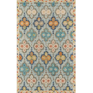 Tangier Damask Blue Rectangular: 3 Ft. 6 In. x 5 Ft. 6 In. Rug