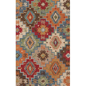 Tangier Multicolor Geometric Rectangular: 3 Ft. 6 In. x 5 Ft. 6 In. Rug