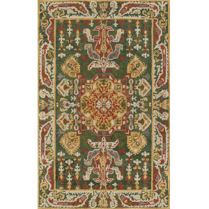 Tangier Green Rectangular: 3 Ft. 6 In. x 5 Ft. 6 In. Rug