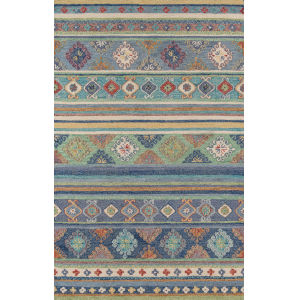 Tangier Oriental Blue Rectangular: 3 Ft. 6 In. x 5 Ft. 6 In. Rug