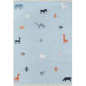 Thompson Porter Blue Rectangular: 7 Ft. 6 In. x 9 Ft. 6 In. Rug