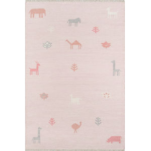 Thompson Porter Pink Rectangular: 7 Ft. 6 In. x 9 Ft. 6 In. Rug